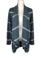 Knox Rose Womens Size M Long Sleeve Cardigan Blue Soft Draped Open Front Sweater