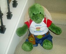 Build A Bear Plush Turtle with Jeans, Gun Holster & Happy Birthday T-Shirt