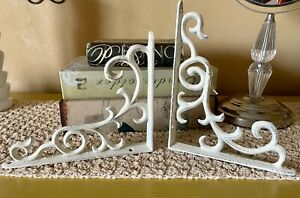 2 French Farmhouse Window Corners Door Corbels Shelf Brackets Cast Iron Metal