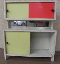 Meuble de poupée vintage, formica, buffet, cuisine meuble miroir, haut 39,4 cm