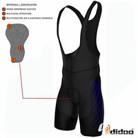 Didoo Men's Cycling Bib Shorts Coolmax Padded Trousers Cycle Team Racing Pants