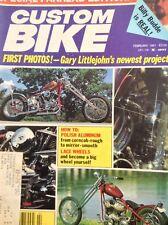 Custom Bike Magazine How To Polish Aluminum February 1981 010218nonrh