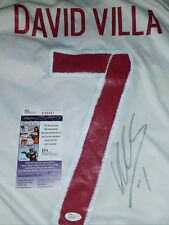 David Villa Spain World Cup Champion Signed Jersey Size XL in Person. JSA CERT