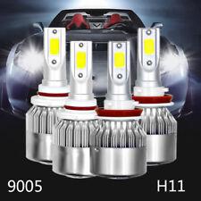 4PCS 9005 H11 LED Combo Headlight 6000K Cool White Kit Fog Spot Light Bulbs Set