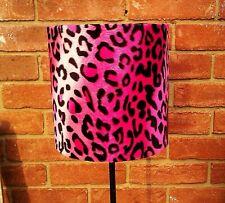 20cm w x 15cm h Hot Pink Leopard Print Faux Fur Lampshade / Ceiling Pendant