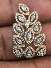 1.42 Carats Round Marquise Pear Cut Natural Diamonds Engagement Ring In 14K Gold