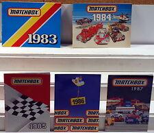 DTE 5 1983-1987 MATCHBOX POCKET CATALOGS