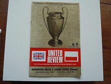 Manchester United v Gornik Zabrze Football Programme 28 February 1968