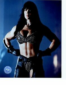 CHYNA WWE WWF UNSIGNED 8x10 Photo RACING REFLECTIONS