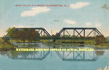 LV Lehigh Valley Railroad Flemington NJ bridge over South Branch 1912