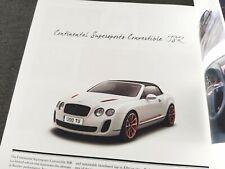 BENTLEY Mulsanne Continental GTC JSR Supersports Prospekt Brochure 2012 AG