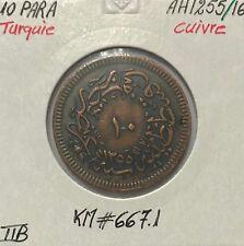 TURQUIE - 10 PARA (AH 1255) - Pièce de Monnaie en Cuivre // TTB