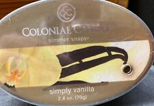 Colonial Candle 2.4 oz Melt Wax Snaps Simply Vanilla 2 packs Total