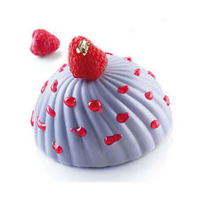 "Silikomart ""Parfum"" Swirl Hemisphere Silicone Mold 3.7 Oz (108ml)"