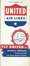 United Air Lines system timetable 11/1/47 [9082] Buy 4+ save 25%