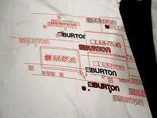 Rare BURTON Long Slv White T Shirt Sz XL? Snowboards Vintage Hard to find design