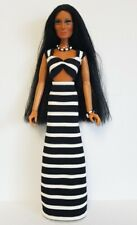 Mego CHER FARRAH Doll Clothes B&W TOP, SKIRT & JEWELRY HM Fashion NO DOLL d4e