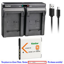 Kastar Battery Dual Charger for Sony NP-BN1 BC-CSN & Sony Cyber-shot DSC-W690