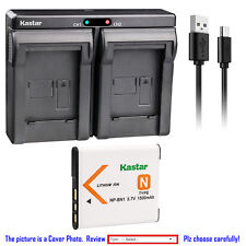 Kastar Battery Dual Charger for Sony NP-BN1 BC-CSN & Sony Cyber-shot DSC-W830