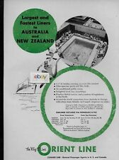 ORIENT LINE LARGEST & FASTEST LINERS TO AUSTRALIA JOEY ORIANA SUNLINER POOL AD