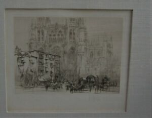 Burgos Cathedral Etching, William Walcot  listed UK Artist
