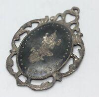 Vintage Sterling Silver Necklace 925 Pendant Siam Enamel