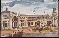cartolina MILANO esposizione 1906 mostra ferroviaria