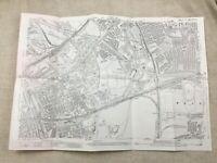 Antico London Mappa Città Strada Arco Bromley Occidente Ham 1914