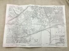 Antique London Map City Street Bow Bromley West Ham 1914