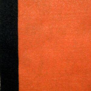 FEUTRINE ORANGE ET NOIRE HALLOWEEN  22,9 x 30,5cm  LOT DE 2 FEUILLES