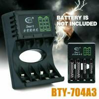 Intelligent Fast Led Charger for AA AAA Ni-MH Ni-Cd Rechargeable Battery 4-Slot.