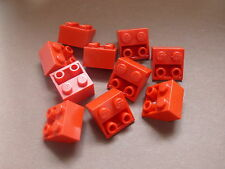 Lego 10 pieces rouges inclines inversees / 10 red slope inverted 45° 2 x 2