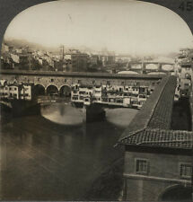 STEREOVIEW RIVER ARNO, FLORENCE, ITALY.