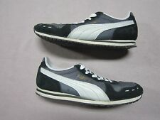 PUMA WOMENS CABANA RACER BLACK & WHITE RUNNING SNEAKERS SHOES SIZE 7 PREOWNED