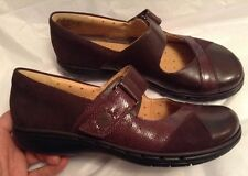 New🌷Clarks🌷UK 4.5 ARTISAN UN SWAN UN-STRUCTURED LEATHER MARY JANES Brown 37.5