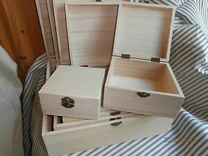 Wooden Square Boxes to Decoupage or Paint