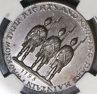 1795 NGC MS 62 Armed Citizens Conder 1/2 Penny Spence DH 681D Token (18121601C)