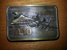 Vintage  A10  Attack Thunderbolt USAF - Military Jet  Belt Buckle - New