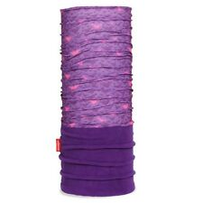 Sciarpa scaldacollo multifunzione doppio tessuto pile  viola/fantasia cuori
