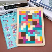 3D Wooden Puzzles Tangram Board Toys Brain Teaser Children Toys Game GiftsBDAU
