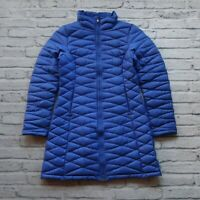 Patagonia Fiona Quilted Down Parka Jacket Womens Size M Blue