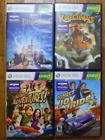 USED Disneyland Adventures, Kinectimals, Kinect Adventures!, Joy Ride(Xbox 360)