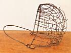 ANTIQUE Wire Basket ANIMAL Horse CALF Dog MUZZLE Farmhouse STEAMPUNK Prim
