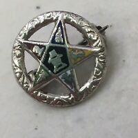 Vintage Order of Eastern Star OES Masonic Lapel Pin Rough 10K? TOP? - READ