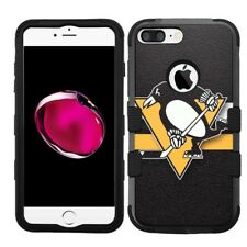 for iPhone 8 Plus Rugged Rubber+Hard Hybrid Case Pittsburgh Penguins #STR