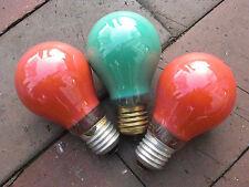 grüne und rote Glühlampen, 40W, E14, 230V, Funktion getestet, 60 x 103 mm