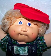 """SUPER RARE 1983 CABBAGE PATCH KIDS 16"""" doll with FRECKLES & SHAG TAN hair COLECO"""