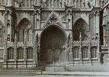 Lincoln Cathedral Southeast Porch, England, 1910, Magic Lantern Glass Slide