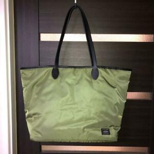 PORTER × STUSSY  Collaboration Tote Bag Olive & Rescue Orange Nearly unused F/S