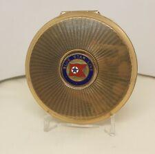 More details for stratton vintage compact blue star line enamel badge gold tone 1960's vgc